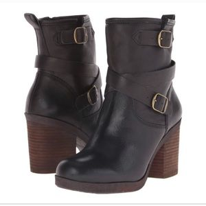 LUCKY BRAND Orenzo black leather tall bootie sz 5